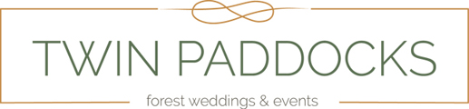 Logo of Twin Paddocks - Magical Forest Weddings and Chic Forest Functions.